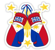 Peoples Champ Pac Man Boxing Gloves Sticker