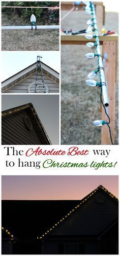 Hanging Christmas Lights the Easy Way | www.fromcalculustocupcakes.com