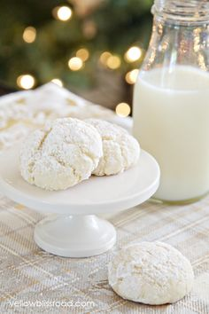Nut-Free Snowball Cookies made with Cake Mix #cakemixcookies #cookies #snowball