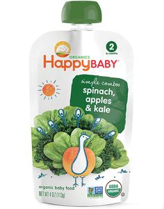 Happy Baby Pouches | Organic Fruit and Vegetable Combos for Baby