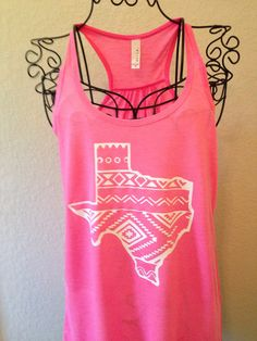 Aztec Texas Tank on Etsy, $21.00