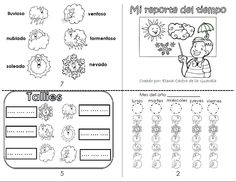 Mi reporte del tiempo Spanish Mini book to track the weather every day. It has 8 pages. Print one mini book for every month.