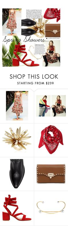 """Spring Showers..."" by luisaviaroma ❤ liked on Polyvore featuring Dolce&Gabbana, Rosantica, Yves Saint Laurent, Valentino, Gianvito Rossi, Maria Black, luisaviaroma, springflorals and ss17"