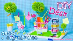 Easy video tutorial of DIY desk organization stuff made as a miniature baby room with a courtyard. Here you will find how to make mini baby pram, mini baby c...