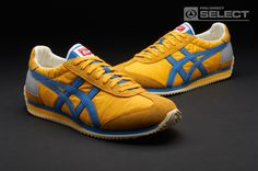 Onitsuka Tiger Trainers - Onitsuka Tiger California OG Le Vintage - Mens Shoes - Yellow - Blue