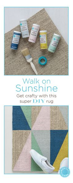 Get crafty with this awesome DIY Geometric Rug using Martha Stewart Crafts paint!