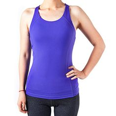 Sportown Womens Gym Yoga Fitness Workout Cross Back Tank Top Purple L * Continue to the product at the image link. (Note:Amazon affiliate link)
