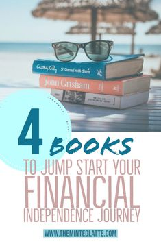 Four finance books to read that will help guide you to saving + investing money and financial freedom. Design you're own financial independence journey using these finance books as foundation. Financial Tips, Financial Literacy, Financial Planning, Financial Peace, Financial Charts, Financial Stress, Financial Assistance, Money Tips, Money Saving Tips