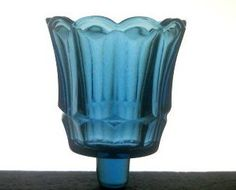 Home Interiors Peg Votive Candle Holder Fluted Starlight Blue OOS