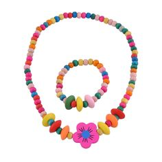 Stretch Jewelry Set For Little Girls In Bright Colors