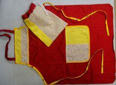 Avental infantil e sacola para sapatilha de Euritmia