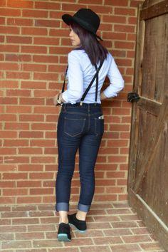 Suspenders and bowtie