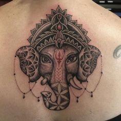 Alchemy Tattoo Arts: Ganesha tattoo by Shane Nicholetti . Buddhist Symbol Tattoos, Hindu Tattoos, Ganesha Tattoo, Dragon Mystique, Tattoo Guide, Alchemy Tattoo, Goddess Tattoo, Samoan Tattoo, Polynesian Tattoos