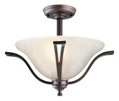 Design House 517631 Ironwood Brushed Bronze Semi-Flush Ceiling Mount