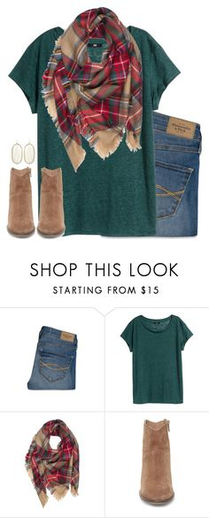 """tis' the season to be jolly"" by julesnewkirk ❤ liked on Polyvore featuring Abercrombie & Fitch, H&M, Steve Madden and Kendra Scott"