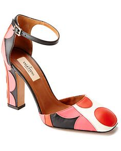 Valentino Leather Ankle Strap Pump