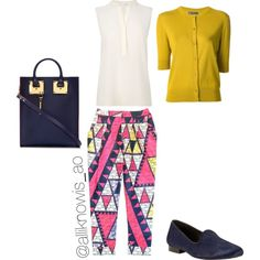 A fashion look from September 2014 featuring short tops, white silk blouse and patterned trousers. Browse and shop related looks. White Silk Blouse, Short Tops, Trousers, Fashion Looks, Business, Outfits, Shopping, Cropped Tops, Trouser Pants