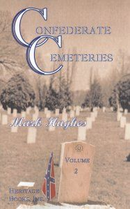 The second book in the Confederate Cemeteries series, lists the names of over 10,500 Confederate soldiers that died during the Civil War. The vast majority of the burials listed are Confederate soldiers that died during the war. However, the names of some Confederate veterans are included. Also included are the names of over one hundred Union soldiers that were buried along with the Confederates. The deaths of these Union