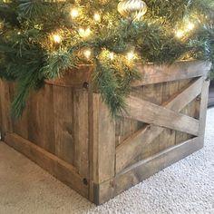 Christmas Tree Box Tree Skirt Alternative Wood Tree Box | Etsy