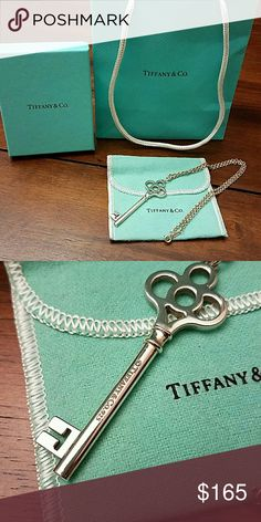 "52% OFF! - Tiffany & Co. Crown Key pendant EUC Tiffany crown key necklace. 16"" chain.  Comes with pouch, gift box, ribbon, and shopping bag. Tiffany & Co. Jewelry Necklaces"