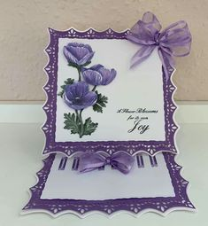 Fancy Fold Cards, Folded Cards, Tattered Lace Cards, Picture Postcards, Easel Cards, Beautiful Handmade Cards, Lace Design, Projects To Try, Joy