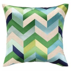Arrowhead Blue & Green Pillow from Cottage & Bungalow. Designer quality pillows with a price match guarantee. Click now to learn more. Green Throw Pillows, Chevron Throw Pillows, Toss Pillows, Accent Pillows, Green Chevron, Blue Green, Aqua Blue, Color Blue, Blue And Green Living Room