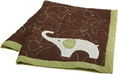 """Reviews Carter's Green Elephant Quilt, Green/Choc, 36 X 45"""" The best prices online - http://topbrandsonsales.com/reviews-carters-green-elephant-quilt-greenchoc-36-x-45-the-best-prices-online"""