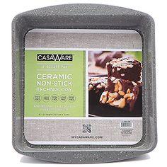 casaWare Ceramic Coated NonStick 9Inch Square Pan Silver Granite *** Visit the image link more details.