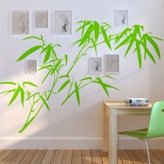 bamboo wall stencil and photos-lovely
