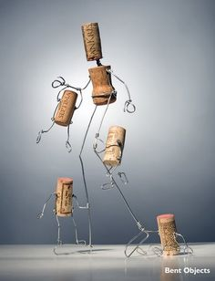 Terry Border has been making his charming, spare, witty wire creations for years. I love him.