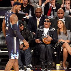 LeBron James and Jay-Z at the All-Star Game in Las Vegas.