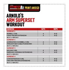 Bulk up fast with the best bulking stack, gain muscle, bulk up fast, how to gain muscle, arms workout Arnold Schwarzenegger Workout, Arnold Schwarzenegger Bodybuilding, Superset Arm Workout, Bicep And Tricep Workout, Good Arm Workouts, Gym Workouts, Workout Schedule, Workout Planner, Month Workout