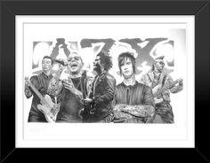 Avenged Sevenfold A7 Framed Sketch Art Poster Print by Innerwallz