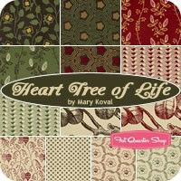 Heart Tree of Life Fat Quarter Bundle Mary Koval for Windham Fabrics