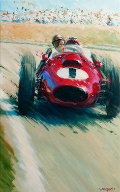 Auto Illustration, Cool Car Drawings, Auto Motor Sport, Speed Art, Car Posters, Vintage Race Car, Automotive Art, Car Painting, Sports Art