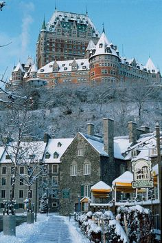 Chateau Frontenac, Quebec. Louise Penny has me convinced I need to visit this and many more places in Canada.
