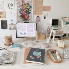Study Room Design, Study Room Decor, Study Rooms, Study Areas, Study Space, Study Desk, Room Ideas Bedroom, Cute Room Ideas, Cute Room Decor