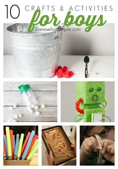 Activities and Crafts for Boys - Somewhat Simple