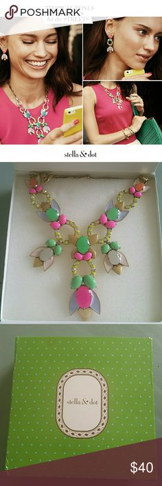 Stella and Dot Tropicana Necklace NWOT Reposh  Got this beautiful necklace with NWOT condition  here on Posh . Unfortunately I don't have opportunities to wear it. Never worn.  A little tarnished but I got it with this look. See pic 4. Stella & Dot Jewelry Necklaces