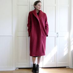 Tessuti Patterns Oslo Coat Coat Pattern Sewing, Sewing Patterns, Vintage Vogue Patterns, Black Wool Coat, Winter Coat, Winter Fashion, Normcore, Fabric, Oslo
