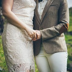 …a pair of elbow patches will always steal the show: | 16 Dapper Brides Who Said No To A Dress