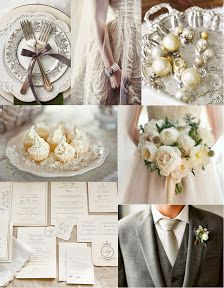 Complementos vestido novia mezclando color pastel con el plateado.