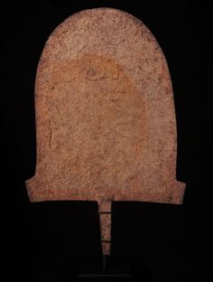 Iron Hoe Curency - Angas & Afo people in Nigeria  Referred to as a ceremonial hoe, these were customary gifts to a bride's father - 1 hoe and 2 goats for a wife. A symbol of wealth, this giant piece of currency was one of the heaviest means of exchange by an African blacksmith.  www.africaandbeyond.com