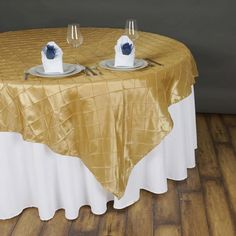 x Champagne Pintuck Square Overlay Champagne Wedding Decorations, Banquet Decorations, Spring Wedding Decorations, Spring Wedding Colors, Table Overlays, Floral Tablecloth, Pin Tucks, Table Covers, Table Linens