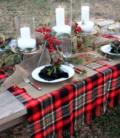Nice outdoor fall table