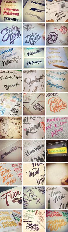 Brushpen Lettering set 02 by Joluvian , via Behance