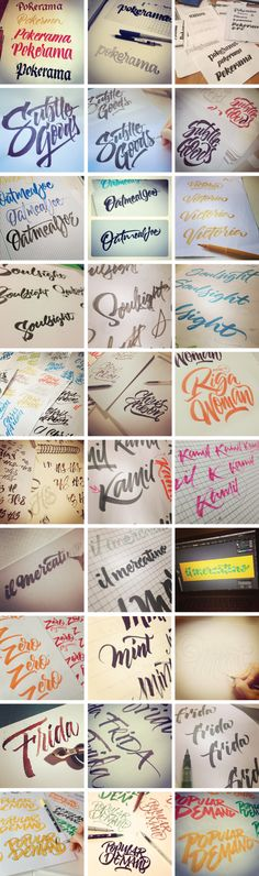 Brushpen Lettering set 02 by Joluvian , via Behance