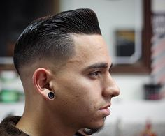 "suavecitopomade: ""  @jorgeelbarbero making this hombre look fresh to death with this pristine pompadour cut! A little Suavecito Pomade to get hold it in place and it's all set. "" NV LAS: Downtown Vintage Barbershop Jorge Alberto Reyes Hurtado 1112 E...."