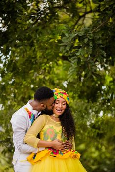 Couples African Outfits, African Attire, African Wear, African Dress, Tsonga Traditional Dresses, South African Traditional Dresses, African Print Fashion, African Fashion Dresses, Traditional Wedding Attire