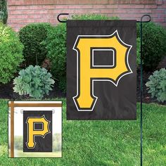 "PITTSBURGH PIRATES ""P"" LOGO GARDEN WINDOW FLAGS"